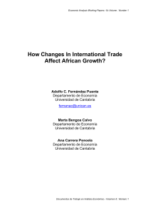 How Changes In International Trade Affect African Growth?