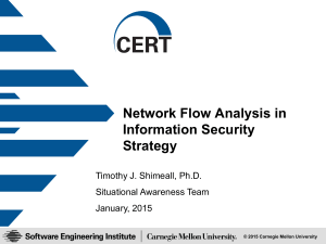 Network Flow Analysis in Information Security Strategy