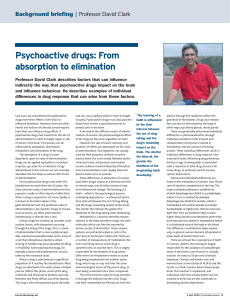 Psychoactive drugs: From absorption to