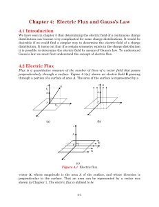 Chapter 4: Electric Flux and Gauss`s Law
