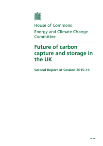 Future of carbon capture and storage in the UK