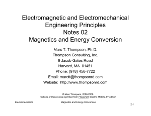 Day 2: Magnetics - thompson consulting home page