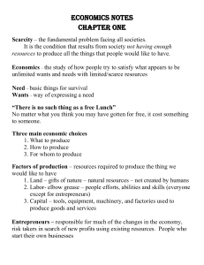 Chapter 1 Basic Economics