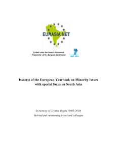Issue(s) of the European Yearbook on Minority