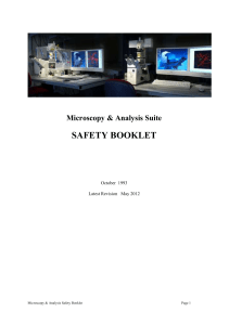 safety booklet - University of Bath