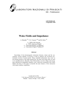 Wake Fields and Impedance