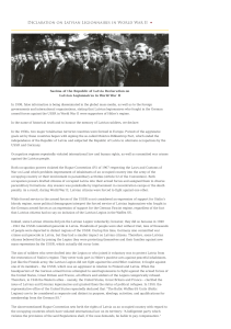 Declaration on Latvian Legionnaires in World War II