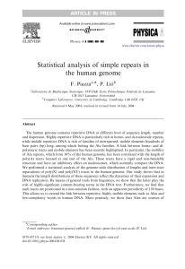 Statistical analysis of simple repeats in the human genome