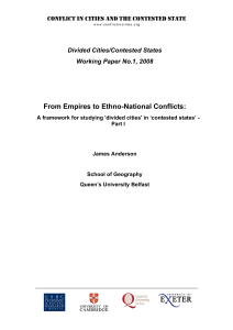 From Empires to Ethno-National Conflicts: A framework for studying