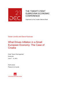 What Drives Inflation in a Small European Economy: The