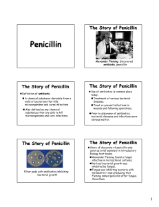 The Story of Penicillin