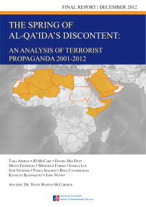 the spring of al-qa`ida`s discontent