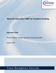 Infineon Application Note Reverse Conduction IGBT for Induction
