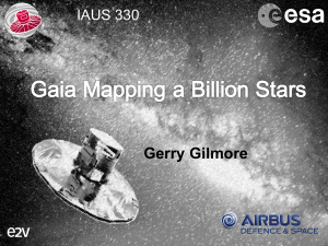 Gilmore - Astrometry and Astrophysics in the Gaia sky