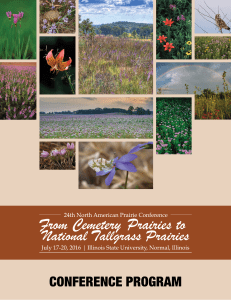 table of contents - North American Prairie Conference 2016