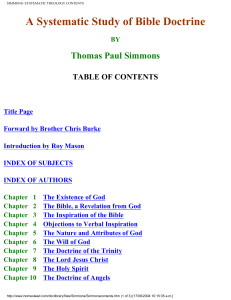 simmons- systematic theology contents