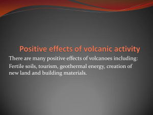 Positive effects of volcanic activity