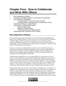 Chapter Four: How to Collaborate and Write With Others