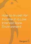 How to Invest for Income in a Low Interest Rate