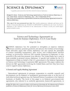 Science and Technology Agreements as Tools for Science