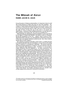 The Mitzvah of Keruv - The Rabbinical Assembly