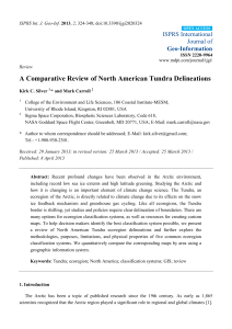 A Comparative Review of North American Tundra Delineations