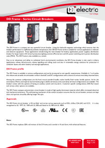 DD Frame - Series Circuit Breakers