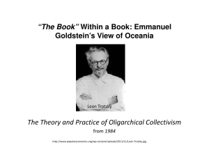 """The Book"" Within a Book: Emmanuel Goldstein`s View"