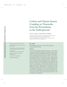 Carbon and Climate System Coupling on Timescales from