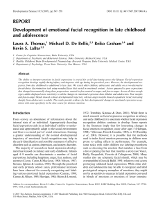 Development of emotional facial recognition in late