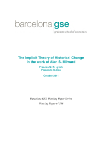 The Implicit Theory of Historical Change in the work of Alan S. Milward