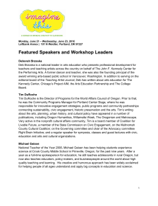 Featured Speakers and Workshop Leaders