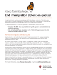 Keep families together: End immigration detention quotas!