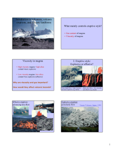 Introduction to volcanoes, volcanic eruptions, and volcanic