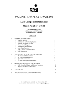 LCD Specification Document
