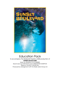 SUNSET BOULEVARD education pack