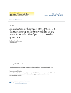 An evaluation of the impact of the DSM-IV