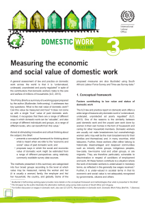 Measuring the economic and social value of domestic work