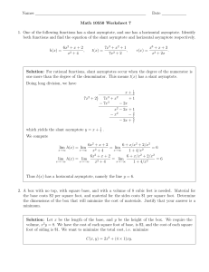 Solutions To Worksheet 7