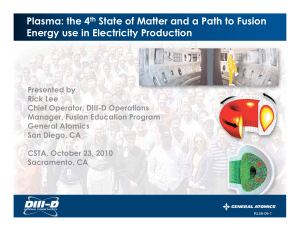 Plasma: the 4th State of Matter and a Path to Fusion Energy use in