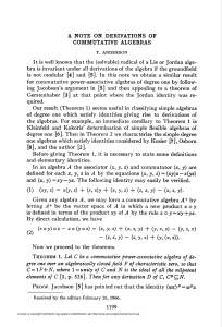 A NOTE ON DERIVATIONS OF COMMUTATIVE ALGEBRAS 1199