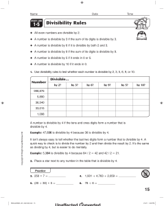 1 5 Divisibility Rules
