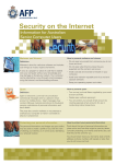 Security on the Internet - Australian Federal Police