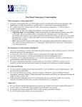 fact sheet: emergency contraception