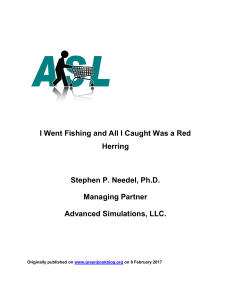 I Went Fishing and All I Caught Was a Red Herring
