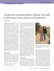 Chaperone-assisted protein folding: the path to discovery from a