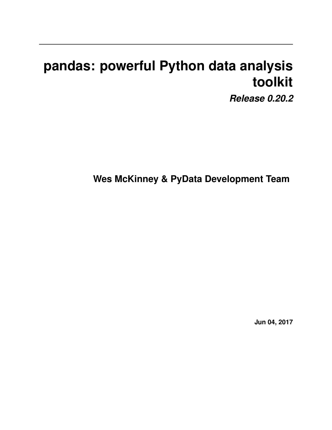 PDF Version - Pandas