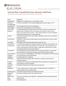 Lesson Plan: Constitution Day Glossary and Facts