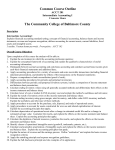 ACCT 201 - Community College of Baltimore County