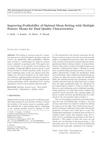 Improving Profitability of Optimal Mean Setting with Multiple Feature